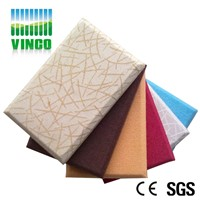anti-fire fabric packed acoustic panel resin frame glass wool inside  panel for hotel