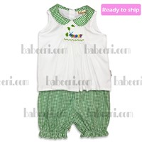 Caterpillar smocked bloomers set for girls - BB68