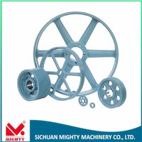 high quality u groove pulley,customized cast iron elevator v-belt u groove pulley