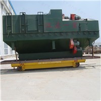 Cable Drum Powered Electric Rail Flat Cart For Steel Material Transport
