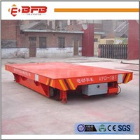 Low Volatge Power Motorized Rail Trolley For Steel Structure Handling