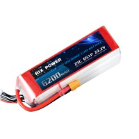 RC LIPO BATTERY 6200MAH 25C 6S