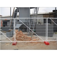 AS 4687 standard Temporary Fencing with Concrete Plastic Feet