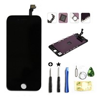 For iphone 6 plus lcd display iphone 6 plus touch screen lcd digitizer assembly with frame