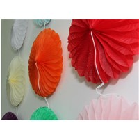 Party Decoration Yellow Snowflake Customized Hot Sale Die Cut Paper Fans
