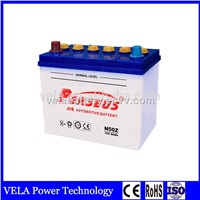 Factory Supply N50Z Maintenance Free Lead Acid Car Battery