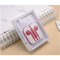 Cheapest Earphone with 3.5mm Headphone conector For Apple i/iPhone/Mp3 MP4 Player and all mobile