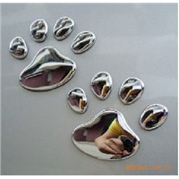 Car sticker ,car badge ,chrome sticker, chrome label ,ABS car badge,soft PVC chrome label