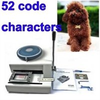 52 Dog tag embossing machine, Manual GI Military Steel Metal PET Dog Tags Embosser ID Card Machine