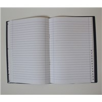 8mm ruled line letter-tab notebook with book jacket