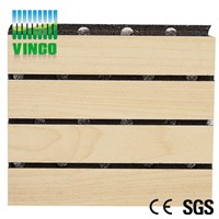 high density MDF grooved acoustic panel for office decoration