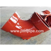Ductile Iron Pipe Fittings, Double Socket Bend with Outlet.