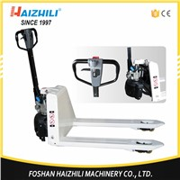 Foshan factory supply 2 ton 685mm hydraulic semi electric pallet truck with cheap price