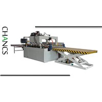 High Frequency Finger Joint Panel Joining Press with Elevator Platform--CHANCS MACHINE