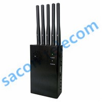 3G/4G All Frequency Portable Cell Phone Jammer with 5 Antennas ( 4G LTE +Wimax) ( With DIP switch)