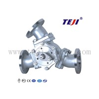 3 Way Casing Steel and Stainless Steel Ball Valve