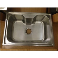 Guangdong kitchen basin special shape stainless steel sink WY-6043