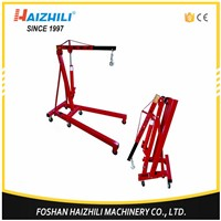 Portable folding stable 2 ton 2300mm hydraulic shop crane