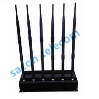 SA-006B 6-Band Cell Phone Signal Jammer, GSM CDMA DCS PCS 3G UHF VHF Jammer, Long Jamming Range