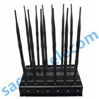SA-012B 12 Bands Mobile Phone Signal Jammer/ RF Jammer, VHF UHF 4G/Wimax Jammer Blocker, OEM/ODM