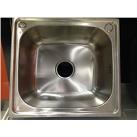 Single deep bowl small square stainless steel sink WY-4642