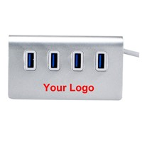 4 Port USB 3.0 Hub Aluminium Housing Adapter for Apple Mac Pro Laptop PC Android TV Box hub