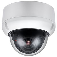 Outdoor IR-30M Vandal Proof Dome IP Camera