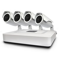 4  Channel 960P POE IP Digital Wireless DVR Camera Kit