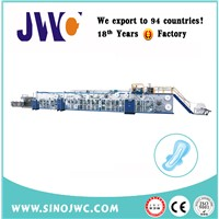 Eco-Friendly Hygienic Sanitary Napkin Machinery Manufacturer JWC-KBD350