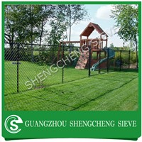 Plastic chain link fence desing security PVC coated garden fence