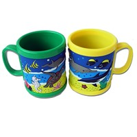 kids favourite cartoon ABS silicone wrapped custom souvenirs mugs