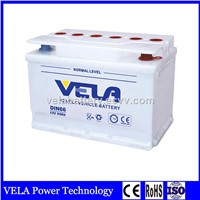 DIN66 12V66AH Dry Charged Lead Acid Rechargeable Car Battery For Car Starting