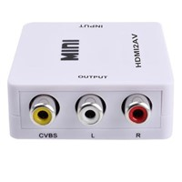 HDMI2AV HDMI to AV CVBS Converter Box PC to TV OEM/ODM Composite Real 1080P HDCP HDMI to 3 RCA Audio