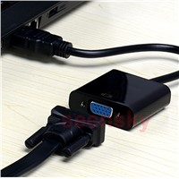HDMI to VGA with 3.5mm Aux Audio Cable Video Converter Adapter For Xbox 360 PS3 PC IPTV BOX