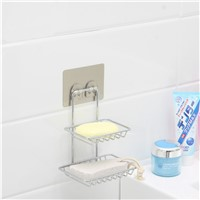 wall mounted double stainless steel trade assurance soap dish