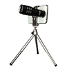 Silver Aluminum Alloy Mobile Phone Lens 12x Zoom in Telescope for Phone,Free Logo,OEM