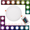 Ultra Slim Embeded Round RGB LED Panel Light 6W 9W 18W 24W Dual Double Color RGB And White