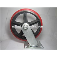 10 inch swivel red Polyurethane heavy duty caster