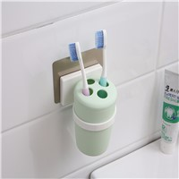 magic flexible sticker plastic toothbrush cup holder