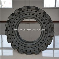31x10-16 Solid Forklift Tire for Use in Industrial Applications