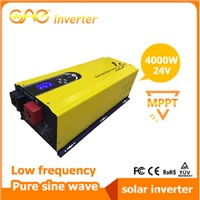 4000W 24V Low frequency pure sine wave solar inverter with built-in MPPT solar charge controller