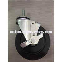 5 inch swivel brake hard rubber caster(80D)