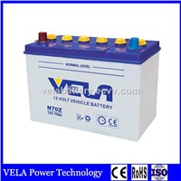 Factory Competitive Price N70Z Dry Charged Lead Acid Car Battery