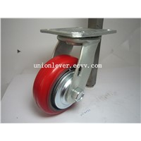4 inch Polyurethane/Cast Iron medium duty caster wheel