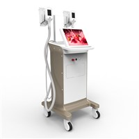 Cryolipolysis slimming machine with two handles work at the same time