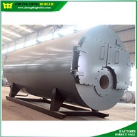 Trade assurance fire tube hot water output oil gas automatic hot water boiler