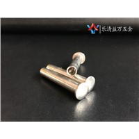 Round head semi-tubular long rivets metal silver