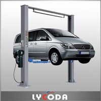Two post car lift clear floor hoist for car