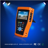 protable 4.3 inch touch screen cctv tester with POE power