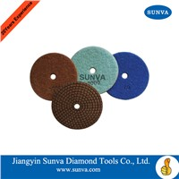SUNVA Resin Bonded Soft Polishing Pads/Diamond Flexible Polishing Pads